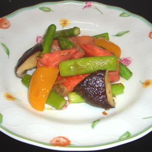 塩鮭と夏野菜の炒め